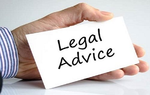 Holding Card With Legal Advice Sign
